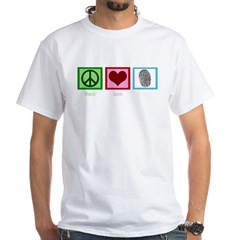 Peace Love CSI: Miami White T-Shirt