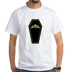 Green Coffin White T-Shirt
