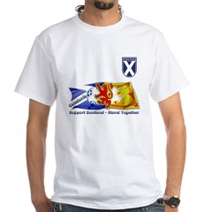 Stand Together Tartan Army White T-Shirt