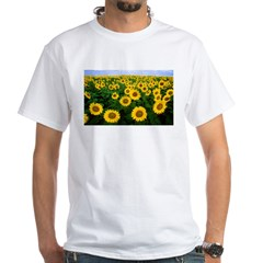Sunflowers in field White T-Shirt