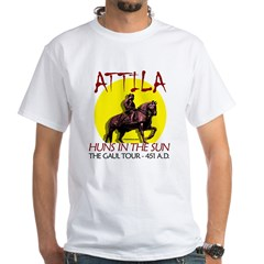 Attila 'Huns in the Sun' tour Ash Grey White T-Shirt