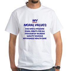 My Moral Values Ash Grey White T-Shirt