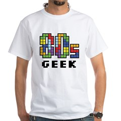 80s Geek White T-Shirt