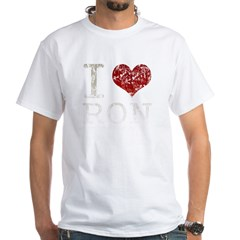 I heart Ron Paul White T-Shirt
