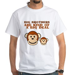 BIG BROTHER monkey White T-Shirt