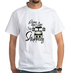 Shopping Message White T-Shirt