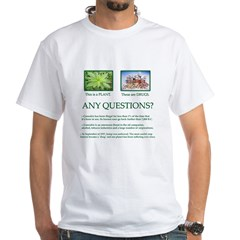 Cannabis Plant - White T-Shirt