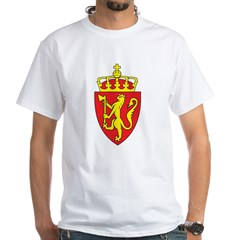Norway Coat Of Arms White T-Shirt