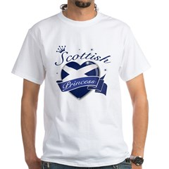 Scottish Princess White T-Shirt