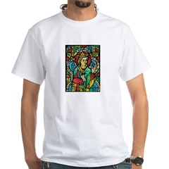 Stained Glass Queen Light White T-Shirt