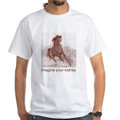 horse imagine your kidney (halftone) Women Light White T-Shirt