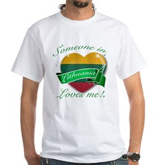 Lithuania Flag Design White T-Shirt