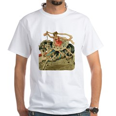Circus Horse And Rider White T-Shirt