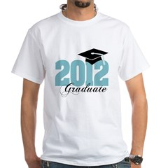 2012 graduate color aqua White T-Shirt