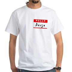 Durja, Name Tag Sticker White T-Shirt