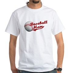 Baseball_Mom White T-Shirt