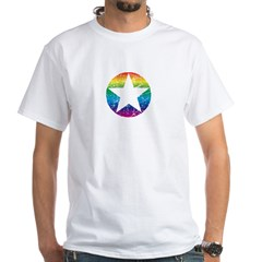 Rainbow Star White T-Shirt