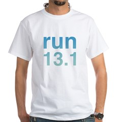 run13blue.psd White T-Shirt