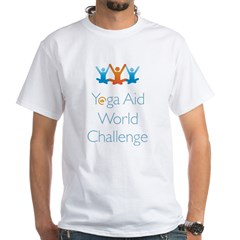 Yoga Aid World Challenge MILFORD White T-Shirt
