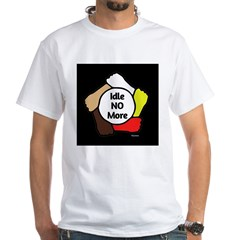 Idle No More - Five Hands White T-Shirt
