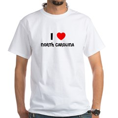 I LOVE NORTH CAROLINA White T-Shirt