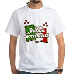 Italian Sweetheart/ Women's Pink White T-Shirt
