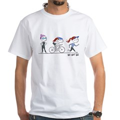 Triathlete Girl White T-Shirt