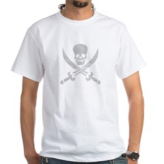 Vintage Pirate Symbol Black White T-Shirt