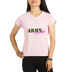 Army Aunt Green & Pink Hear Performance Dry T-Shirt