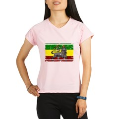 Grunge Rastafarian Flag Performance Dry T-Shirt