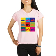 Biking Pop Art Performance Dry T-Shirt
