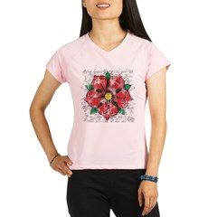 Red Rose Performance Dry T-Shirt