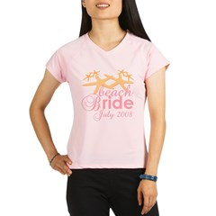 July Beach Bride 2008 Performance Dry T-Shirt
