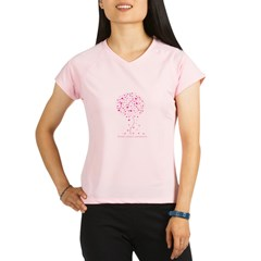 Breast Cancer Awareness Pink Ribbon Tree Performance Dry T-Shirt