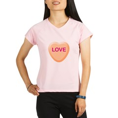 LOVE Orange Candy Heart Performance Dry T-Shirt