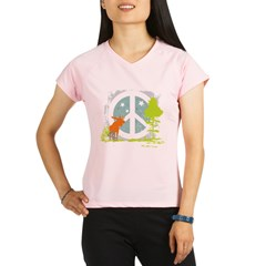 Moose and Peace Sign Performance Dry T-Shirt