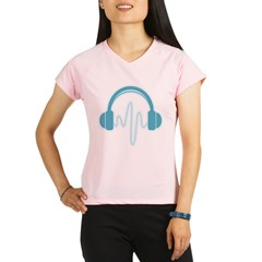 Blue Headphones Maternity Tee (Dark) Performance Dry T-Shirt