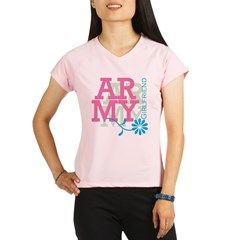 Army Girlfriend - Pink Performance Dry T-Shirt