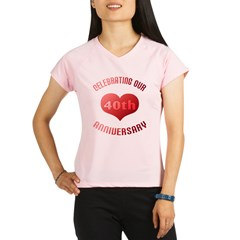 40th Anniversary Heart Gif Performance Dry T-Shirt
