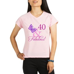 40 &amp; Fabulous (Plumb) Performance Dry T-Shirt
