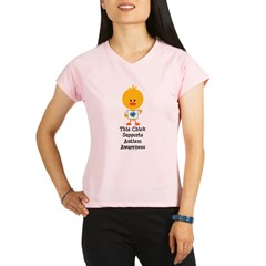 Autism Awareness Chick Performance Dry T-Shirt