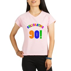 Rainbow 90th Birthday Party Performance Dry T-Shirt