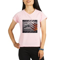 Brushed Steel - X ZONE logo Performance Dry T-Shirt