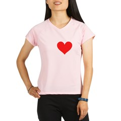 I Heart Volleyball: Performance Dry T-Shirt