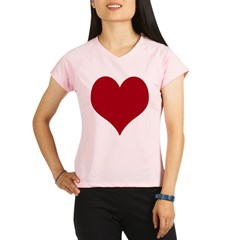 - Heart/Love Design Performance Dry T-Shirt