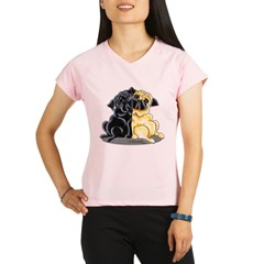 Black Fawn Pug Performance Dry T-Shirt