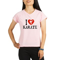 I Heart Karate - Girl Performance Dry T-Shirt
