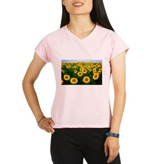 Sunflowers in field Performance Dry T-Shirt