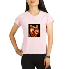 Orange Yellow Tiger Style Des Performance Dry T-Shirt