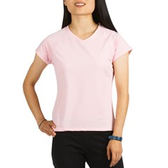 Yellow Burst Women's Pink Performance Dry T-Shirt